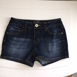 justice dark wash jean short